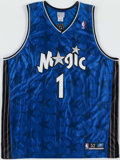 Basketball Collectibles:Uniforms, Tracy McGrady Signed Jersey and Julius Erving Signed Game Pass....