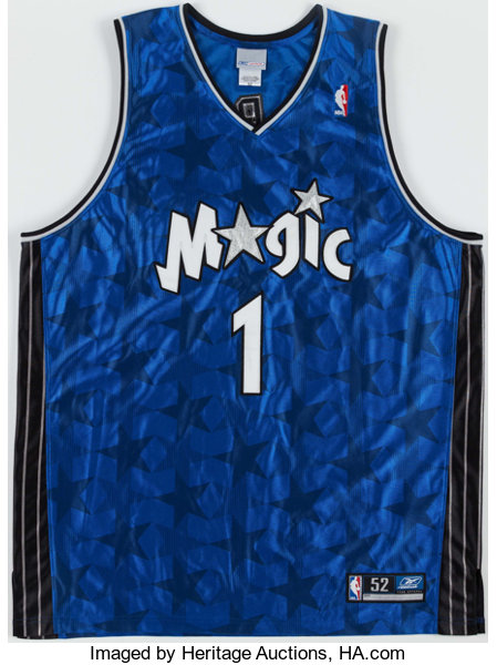 huge selection of 12555 4798f Tracy McGrady Signed Jersey and Julius Erving Signed Game ...