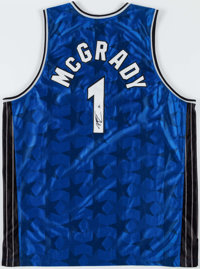 huge selection of 2c89b a7dd6 Tracy McGrady Signed Jersey and Julius Erving Signed Game ...