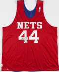 Basketball Collectibles:Uniforms, Derrick Coleman Signed, Practice Worn New Jersey Nets....