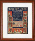 Baseball Collectibles:Others, 1915 Cracker Jack Baseball Cards Advertising Sign....