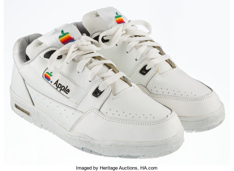 Apple  Apple Computer Sneakers, circa early 1990s  Size 9 1/2  | Lot