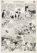 Original Comic Art:Panel Pages, Wayne Boring and Stan Kaye Action Comics #198 Story Page 2Original Art (DC, 1954)....