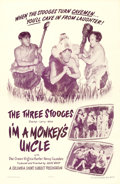 "Movie Posters:Comedy, The Three Stooges in I'm a Monkey's Uncle (Columbia, 1948). OneSheet (27"" X 41"").. ..."