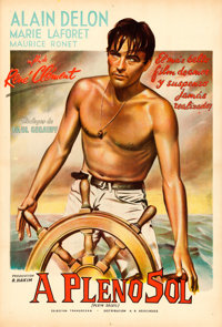 "Purple Noon (A.A. Asociados, 1961). Argentinean One Sheet (29.25"" X 43"")"