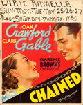 "Movie Posters:Drama, Chained (MGM, 1934). Jumbo Window Card (22"" X 28"").. ..."