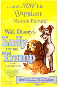 "Movie Posters:Animation, Lady and the Tramp (Buena Vista, 1955). One Sheet (27"" X 41"").. ..."