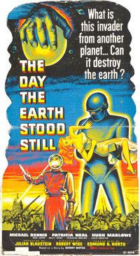 """The Day the Earth Stood Still (20th Century Fox, 1951). Standee (32.5"""" X 59.5"""")"""