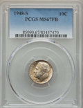 Roosevelt Dimes, 1948-S 10C MS67 Full Bands PCGS. PCGS Population: (118/3). NGC Census: (126/7). Mintage 35,520,000. ...