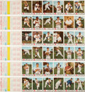 Baseball Cards:Sets, 1955 Johnston Cookies Milwaukee Braves Complete Folder Set (6)....