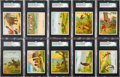 "Non-Sport Cards:Sets, 1910 T73 Hassan ""Indian Life in the 1860's"" Near Master Set (51)...."