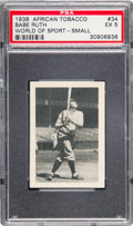 Baseball Cards:Singles (1930-1939), 1939 African Tobacco Babe Ruth (Small) #34 PSA EX 5....