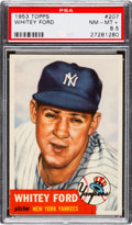 Baseball Cards:Singles (1950-1959), 1953 Topps Whitey Ford #207 PSA NM-MT+ 8.5....