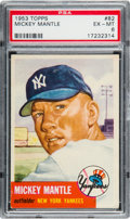 Baseball Cards:Singles (1960-1969), 1953 Topps Mickey Mantle #82 PSA EX-MT 6....