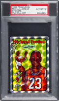 Basketball Cards:Singles (1980-Now), Signed 1985 Prism/Jewel Sticker Michael Jordan PSA/DNA Authentic - The Only PSA/DNA Example! ...