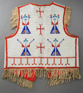 American Indian Art:Beadwork and Quillwork, A Sioux Pictorial Beaded Hide Vest. c. 1900...