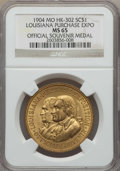 So-Called Dollars, 1904 Louisiana Purchase Exposition, Official Souvenir Medal, HK-302, MS65 NGC. ...