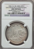 So-Called Dollars, 1906 San Francisco Earthquake, HK-340A, -- Improperly Cleaned -- NGC Details. UNC....