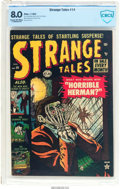 Golden Age (1938-1955):Horror, Strange Tales #14 (Atlas, 1953) CBCS VF 8.0 Cream to off-whitepages....