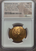 Ancients:Byzantine, Ancients: EMPIRE OF NICAEA. John III (1221/2-1254). AV hyperpyron(4.39 gm). NGC MS 4/5 - 4/5....