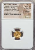 Ancients:Byzantine, Ancients: Heraclius & Heraclius Constantine (613-641). AVsolidus (4.36 gm). NGC XF 5/5 - 3/5, scratches....