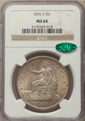 Trade Dollars, 1876-S T$1 MS64 NGC. CAC....