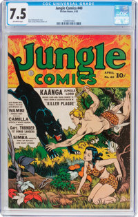 Jungle Comics #40 (Fiction House, 1943) CGC VF- 7.5 Off-white pages