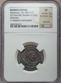 Ancients:Roman Imperial, Ancients: Lot of six imperial AR & AE coins (AD 193-310). NGC Choice VF to AU.... (Total: 6 coins)