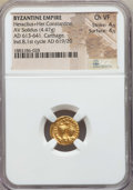 Ancients:Byzantine, Ancients: Heraclius & Heraclius Constantine (613-641). AVsolidus (4.47 gm). NGC Choice VF 4/5 - 4/5....