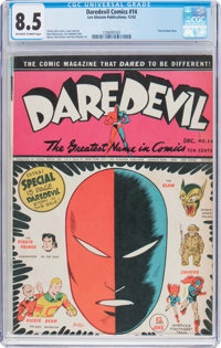 Daredevil Comics #14 (Lev Gleason, 1942) CGC VF+ 8.5 Off-white to white pages