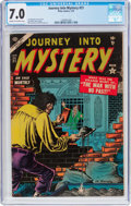 Golden Age (1938-1955):Horror, Journey Into Mystery #21 (Marvel, 1955) CGC FN/VF 7.0 Cream tooff-white pages....