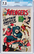 Silver Age (1956-1969):Superhero, The Avengers #4 (Marvel, 1964) CGC VF- 7.5 Off-white to whitepages....