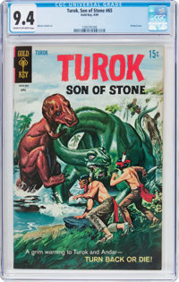 Turok, Son of Stone #65 (Gold Key, 1969) CGC NM 9.4 Cream to off-white pages
