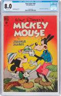 Golden Age (1938-1955):Funny Animal, Four Color #181 Mickey Mouse (Dell, 1948) CGC VF 8.0 Off-whitepages....