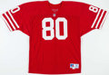 Football Collectibles:Uniforms, Jerry Rice Signed San Francisco 49ers Jersey. ...