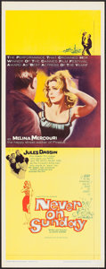 """Movie Posters:Foreign, Never on Sunday (Lopert, 1960). Insert (14"""" X 36""""). Foreign.. ..."""