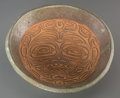 American Indian Art:Pottery, A Contemporary Northwest Coast Carved Ceramic Bowl...