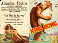 "Movie Posters:Horror, King Kong (RKO, 1933). Australian Herald (7.25"" X 8.5"" Unfolded)....."