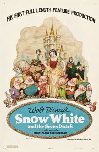 "Snow White and the Seven Dwarfs (RKO, 1937). One Sheet (27"" X 41"") Style B, Gustaf Tenggren Artwork"