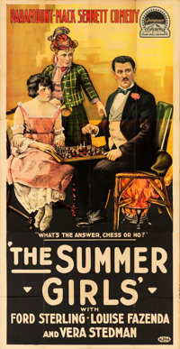 "The Summer Girls (Paramount, 1918). Three Sheet (41"" X 83"")"