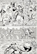 Original Comic Art:Panel Pages, John Buscema and Frank Giacoia Sub-Mariner #4 Story Page 16Original Art (Marvel, 1968)....