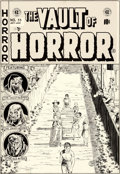 Original Comic Art:Covers, Johnny Craig Vault of Horror #33 Cover Original Art (EC, 1953)....
