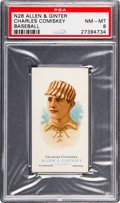 Baseball Cards:Singles (Pre-1930), 1887 N28 Allen & Ginter Charles Comiskey PSA NM-MT 8 - NoneHigher. ...