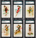 "Non-Sport Cards:Sets, 1889 N192 Kimball ""Beautiful Bathers"" Near Set (17/20). ..."