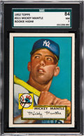 Baseball Cards:Singles (1950-1959), 1952 Topps Mickey Mantle #311 SGC 84 NM 7....