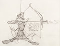 Animation Art:Production Drawing, Robin Hood Daffy Daffy Duck Animation Drawing (WarnerBrothers, 1958)....