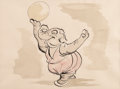 "Animation Art:Concept Art, Fantasia ""Dance of the Hours"" Elephant Ballet Concept Art(Walt Disney, 1940)...."
