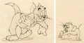 Animation Art:Production Drawing, Flirty Birdy Tom and Jerry Animation Drawing Group of 2 (MGM, 1945).... (Total: 2 Items)