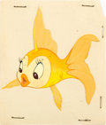 Animation Art:Color Model, Pinocchio/Bambi Cleo Color Model and Miss Bunny Inker's TestCels Group of 2 (Walt Disney, 1940-42).... (Total: 2 Items)