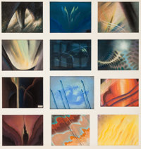 "Fantasia ""Toccata and Fugue"" Color Storyboard Group of 12 (Walt Disney, 1940).... (Total: 12 )"